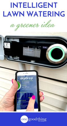 """Here's an idea....how about we only water our lawns when they're actually thirsty? Take the guesswork (and the water waste) out of watering your lawns with a """"smart"""" sprinkler! /skydrop411/"""