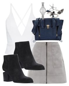 """""""Untitled #2317"""" by mandyzng ❤ liked on Polyvore featuring Alexander Wang, 3.1 Phillip Lim, Forever 21 and DKNY"""