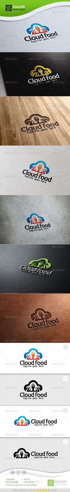 Cloud, Fork Vector Logo Template