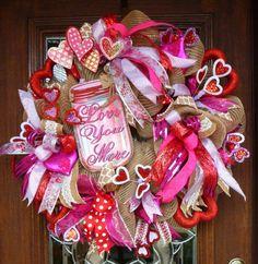 Deco Mesh HEARTS GALORE and LOVE You More Valentine by decoglitz