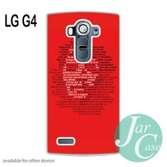 Che Guevara in Red Word Phone case for LG G4 and other cases