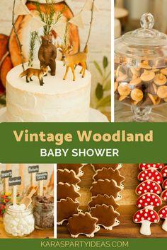 Vintage Woodland Baby Shower via Kara's Party Ideas - KarasPartyIdeas.com