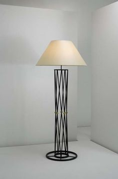 Jean Royère; Painted Iron and Brass 'Alexandrie' Floor Lamp, c1950.