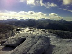 View of the Adirondack High Peaks Region from atop Cascade Mountain.