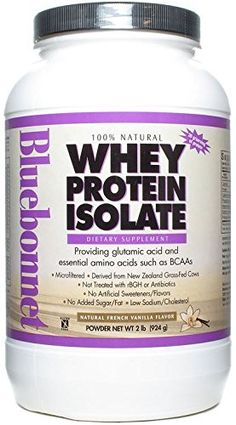 Bluebonnet Nutrition 100% Natural Whey Protein Isolate Powder French Vanilla Flavor 2 LB 100 Natural Whey Protein Isolate is sourced from grass-fed cows that are not treated with antibiotics or recombinant bovine growth hormone (rBGH) also known as bovine somatotropin (BST). Additionally whey protein has the highest biological value (BV) of any protein on the market which refers to a protein that has all of the essential amino acids in adequate quantities to sustain growth and development Natural Protein Powder, Natural Whey Protein, Whey Protein Isolate, Appetite Control, Diet Books, Growth Hormone, French Vanilla, Blue Bonnets