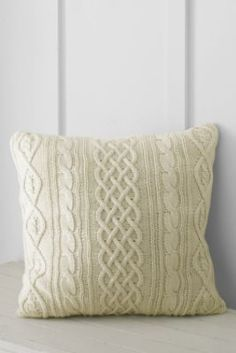 """20"""" x 20"""" Lakeland Cotton Cable Decorative Pillow Cover or Insert from Lands' End"""