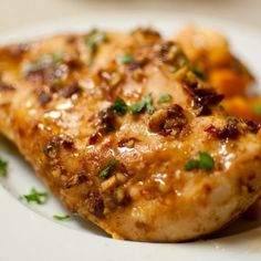 Spiced Chipotle-Honey Chicken with Sweet Potatoes.  A one-dish meal that is fast, healthy, and delicious.