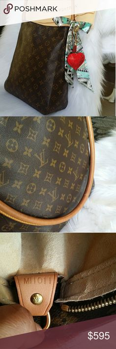 AUTH Louis Vuitton looping GM 100% authentic Louis Vuitton looping GM,  made in France,  date code reads MI1011, canvas is good no crack,  handle is beautiful honey patina and strong,  inside is clean,  zipper work good,  everything above $500 buyer get authentication free from posh so buy it with confidence,  ( dust bag and  accessories in picture include) Louis Vuitton Bags Shoulder Bags