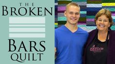 "The Broken Bars Quilt: Easy Quilting Tutorial with Jenny Doan of Missouri Star Quilt Co. Jenny teaches us how to make the Broken Bars Quilt using pre cut fat...70x88"" with 25 fat quarters"