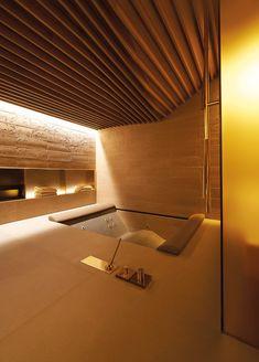 Four Seasons Hotel Spa, Milano Patricia Urquiola bathes with gold Spa Design, Design Hotel, Bath Design, Design Suites, Patricia Urquiola, Home Spa Room, Spa Rooms, Four Seasons Hotel, Bathroom Spa
