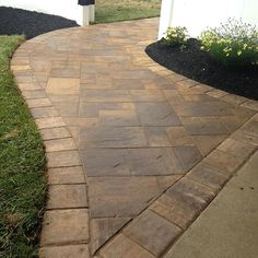 GKB Landscaping updated this entryway with Cambridge Pavingstones with ArmorTec. Set the bar in your neighborhood by choosing Cambridge!