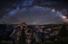 Milky way over Yosemite by Kedar Datta [OC][1600x1050]