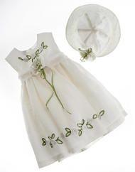 Λινό βαπτιστικό φόρεμα
