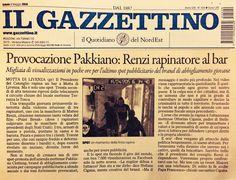 Il Gazzettino, Provocazione Pakkiano Clothing , il video diventa viral in poche ore . In attesa di una risposta di Renzi ...  #Pakkiano #BeIrreverent #RenziRapinatore  GUARDA IL VIDEO COMPLETO QUI : https://youtu.be/c7EMTLjNLuI