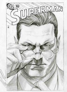 Alex Ross- Superman-Glasses Comic Art