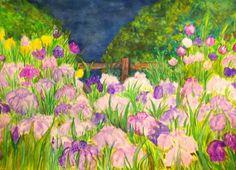 GALERIA PALOMO MARIA: LIRIOS...... Painting Prints, Wall, Painted Wall Art, Water Colors, Paintings, Irises