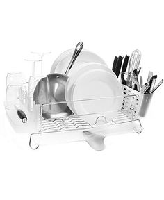 OXO Dish Rack, Folding Stainless Steel - Kitchen Gadgets - Kitchen - Macy's Bridal and Wedding Registry