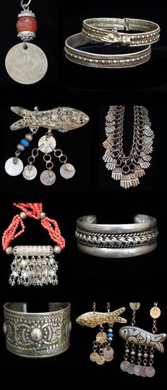 """""""Traditional Jewellery of Palestine"""".  Collection put together by the General Mission of Palestine, in Tokyo."""