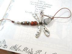 """""""Charlotte La Libellule"""" : un pendentif ... ou un bijou de sac : Pendentif par les-reves-de-minsy"""