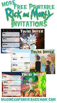 Rick And Morty Invitations Part Two Rick And Morty Invitations Morty