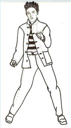 how to draw elvis presley step 6 art pinterest elvis presley drawings and sketches