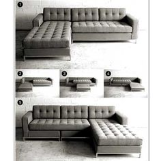 tufted sectional sofa