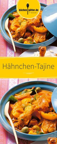 Hähnchen-Tajine A light recipe for the tagine, made quickly with chicken and vegetables. Easy Cooking, Healthy Cooking, Cooking Tips, Tajin Recipes, Pork Recipes, Healthy Eating Tips, Healthy Nutrition, Indian Food Recipes, Ethnic Recipes