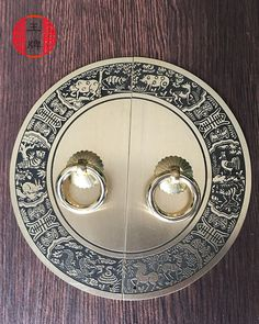 28.88$  Buy here - http://alij16.shopchina.info/go.php?t=32745361753 - The new Chinese antique furniture of Ming and Qing Dynasties pastoral circular plate copper fittings copper handle door handle c  #shopstyle