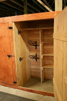 Tack Locker   Could Be Done In Small Horse Barn Instead Of Full Size Tack  Room