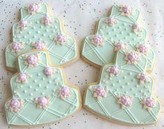 Oceanside Wedding Cake Cookie Favors Wedding Cake by lorisplace