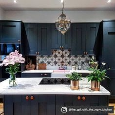 Search this crucial image and also browse through today relevant information on Kitchen Soffit Ideas Kitchen Splashback Tiles, Kitchen Soffit, Black Kitchen Cabinets, Backsplash, Soffit Ideas, Patterned Kitchen Tiles, Home Decor Kitchen, Kitchen Ideas, Kitchen Design