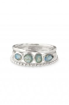 Stackable Band Rings - Essential satin-finished stacking bands are embellished with faceted semi-precious labradorite. Stella Dot, Soft Summer, Summer Blues, Tall Girl Fashion, Stackable Bands, Jewelry Party, Band Rings, Jewelery, Silver Jewelry