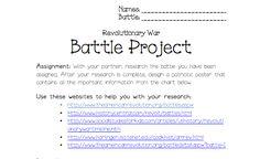 Revolutionary War Projects