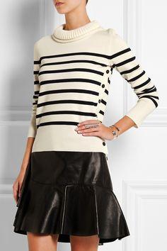 Alexander McQueen Striped merino wool sweater NET-A-PORTER.COM