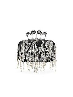 New Alexander McQueen New Four Ring Box Clutch MULTI. Women's fashion Handbags from top store Alexander Mcqueen Clutch, Leather Box, Designer Shoes, Designer Handbags, British Style, Online Shopping Stores, Fashion Handbags, Diane Von Furstenberg, Jimmy Choo