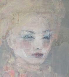 """Nicole"" acrylic on wood panel by Jorunn Mulen www.almostapril.com Wood Paneling, Painting & Drawing, Shabby, Inspiring Art, Portrait, Drawings, Pretty, Artist, Art Ideas"