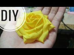 DIY | Cara Membuat Mawar Cubit Asahi | Tutorial Fabric Flower | Rose - YouTube