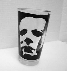 Michael Myers Halloween Painted Pint Glass by PaintedGlassEtc, $16.00