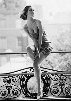 Christy Turlington by Steven Meisel for Vogue via Trendnista.