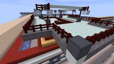 Some design possibilities featuring various concretes, netherbrick fence, sea lanterns, prismarine slabs. Fence, Minecraft, Lanterns, Concrete, Powder, Sea, Mansions, House Styles, Home