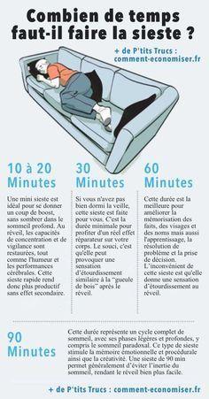 combien de temps faut-il faire la sieste