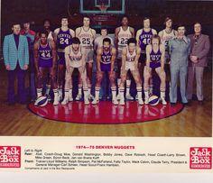 1974-75 Denver Nuggets team photo Golden Nugget 22680d754
