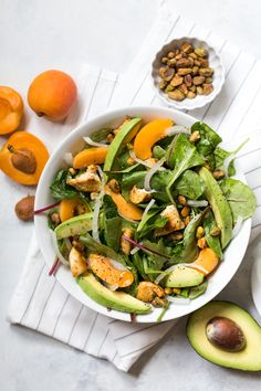 This delicious salad recipe, with kale, fresh apricot, pistachios, grilled chicken, and avocado, is sponsored byDole. One of the best ...