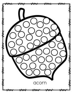 ***FREE*** Fall acorn dot marker activity