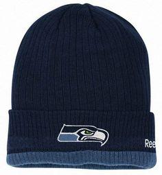 661f835452e SEATTLE SEAHAWKS 2ND Season Onfield Sideline Cuffed Knit Beanie Hat Cap by  Reebok by NFL