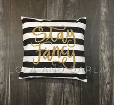 Black and White Striped Silver or Gold by LolaandDarlaDesigns