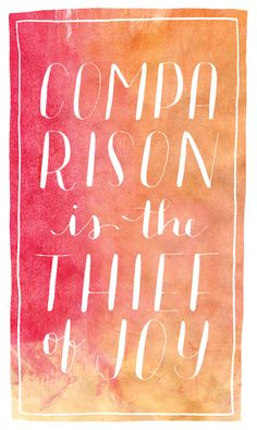 """""""Comparison is the thief of joy."""" - Teddy Roosevelt. something I've been thinking about a lot in practicing handlettering."""