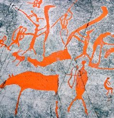 Rock carvings, created by early Saami, the original inhabitants of Arctic Norway, are now protected by a World Heritage site in Alta, Norway...
