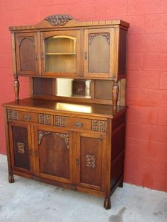 French Art Deco Hutch Cabinet Server Furniture From Mrbeasleys On Ruby Lane
