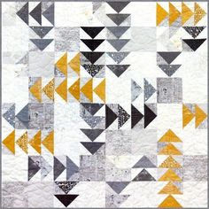 Twisted Geese Quilt Patterns by Zen Chic - Flying Geese Quilt Patterns - Modern Quilt Patterns - Layer Cake Friendly Quilt Patterns - Twisted Geese Quilt Pattern by Zen Chic-Flying Geese Quilt Patchwork Quilt Patterns, Modern Quilt Patterns, Modern Quilting, Quilting Fabric, Machine Quilting, Quilt Baby, Quilting Projects, Quilting Designs, Neutral Quilt